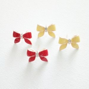 """New Betsey Johnson """"Bow Bows"""" Earrings"""